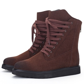 Ericdress Suede High Top Lace up Men's Boots