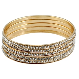 Ericdress Fashion Alloy Diamante Bracelet