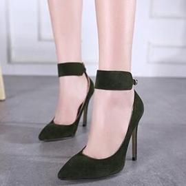 Ericdress Elegant Suede Point Toe Ankle Strap Prom Shoes