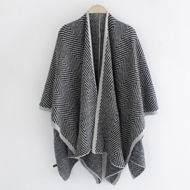 Ericdress Knitted Split Warm Cape Shawl