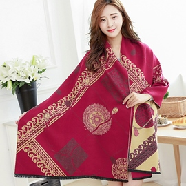 Ericdress Winter Warm Printed Shawl Scarf