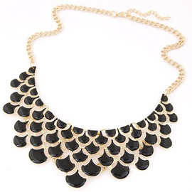 Ericdress Fish Scale Shaped Hollow Metal Necklace