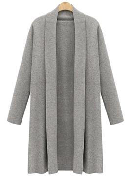 Ericdress Plain Cardigan Knitwear