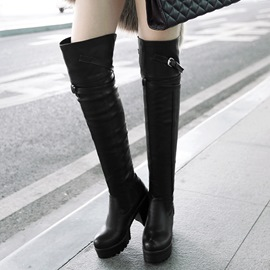 Ericdress PU Thigh High Boots