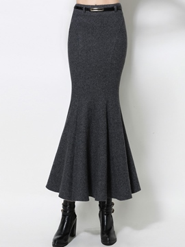 Ericdress Retro Pleated High-Waist Fishtail Skirt