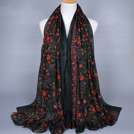 Ericdress Full Flowers Desing Cotton Women's Scarf