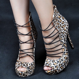Ericdress Cut Out Peep Toe Stiletto Sandals