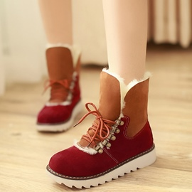 Ericdress Lovely Patchwork Snow Boots