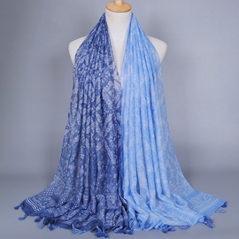 Ericdress Muslim Small Floral Tassels Scarf