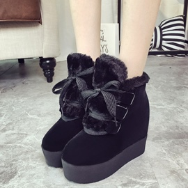 Ericdress Suede Platform Lace up Ankle Boots