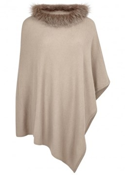 Ericdress Loose Faux Fur Collar Solid Color T-Shirt