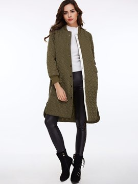 Ericdress Single-Breasted Loose Coat