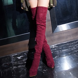Ericdress Sexy Girl Suede Over The Knee Boots