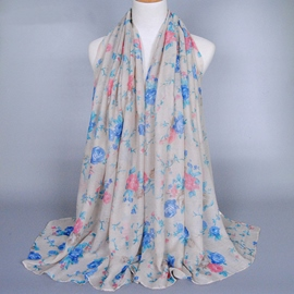 Ericdress Peony Printing Long Voile Scarf