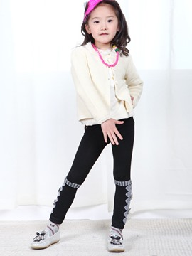 Ericdress Bow Thickening Girls Leggings