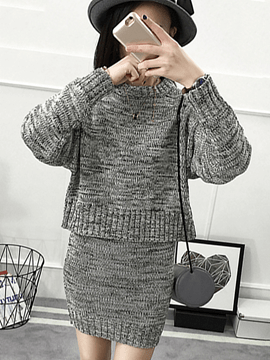 Ericdress Cotton Sweater Bodycon Suit