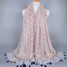 Ericdress Floral Design Long Voile Women's Scarf