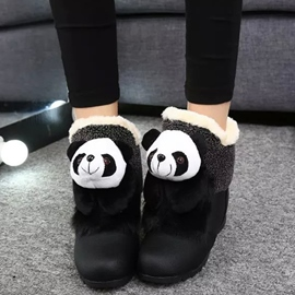 Ericdress Cartoon Panda Snow Boots
