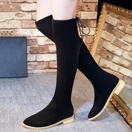 Ericdress Graceful Suede Square Heel Thigh High Boots