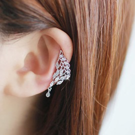 Ericdress Rhinestone Hollow-Out Wing Design Ear Cuff
