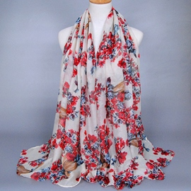 Ericdress High Quality Printed Voile Women's Scarf