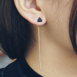 Ericdress Long Triangle Alloy Earrings