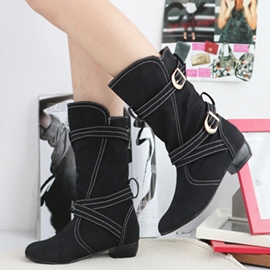 Ericdress Cool Cross Buckles Ankle Boots