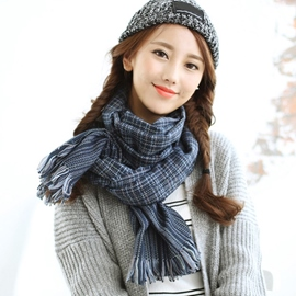 Ericdress Mixed Color Lattice Women's Scarf