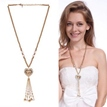 Ericdress Crystal Heart-Shaped Pendant Long Necklace