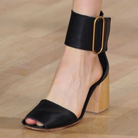 Ericdress Special Black Block Heel Sandals