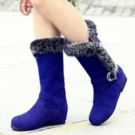 Ericdress Bright Suede Mid-calf Snow Boots