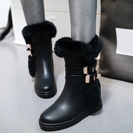 Ericdress Amazing Furry Buckle Decoration Snow Boots