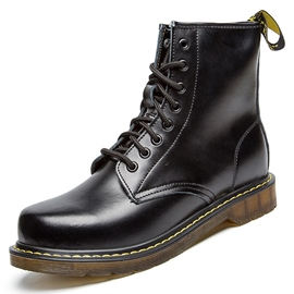 Ericdress Retro Round Toe Lace up Men's Martin Boots