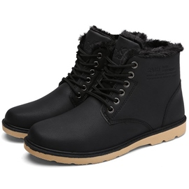 Ericdress Warm PU Lace up Front Men's Boots