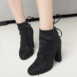 Ericdress Chic Patchwork Martin Boots