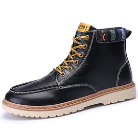Ericdress PU Thread Lace up Men's Boots