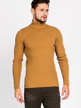 Ericdress Plain Turtleneck Warm Slim Men's Sweater