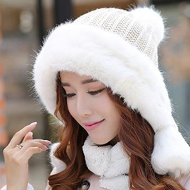 Ericdress Imitation Fur Brim Design Knitted Hat