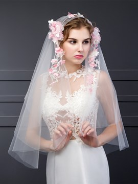 Ericdress Beautiful Flowers Bridal Veil