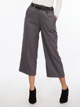 Ericdress Stripe Loose Wide Legs Pants