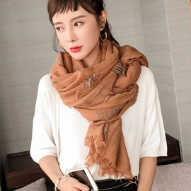 Ericdress Warm Solid Color Fringed Scarf