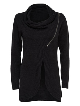 Ericdress Solid Color Straight Asymmetric Knitwear