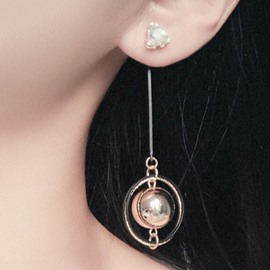 Ericdress Metal Sphere Long Earrings