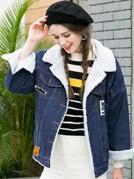 Ericdress Casual Fleece Thick Denim Outerwear