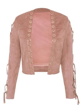 Ericdress Loose Lace-Up Ripped Jacket