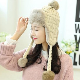 Ericdress Twist Braid Decorated Women's Knitted Hat