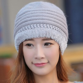 Ericdress Rabbit Hair Knitted Thicken Women's Hat