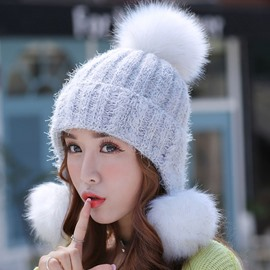 Ericdress All-Matched Three Pom-Pom Design Women's Hat