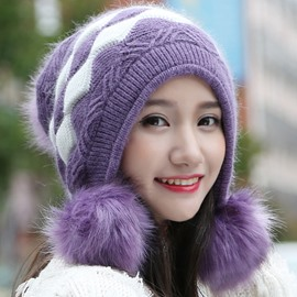 Ericdress Pom-Pom Decorated Warm Women's Hat