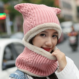 Ericdress Winter Pure Color Thicken Women's Hat & Neck Warmer